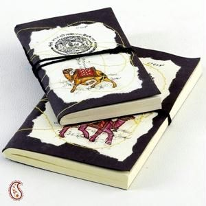 Camel And Batik Print Hand Made Paper Diary Set