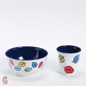 Printed Bowl And Tumbler Melamine Set
