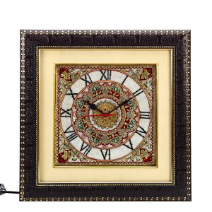 Handpainted Motifs Marble Wall Clock