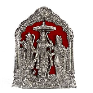 Figurines - Metal Ram Darbar with Silver Finish