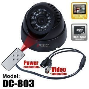 Home Security Systems - Cctv Doom Camera Night Vision TV Output And Inbuilt Recording & Dvr Card Sl