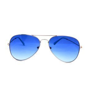 Aviator Style Gradient Dark Blue Sunglasses