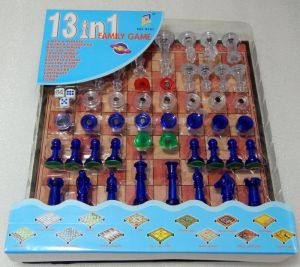 13 In 1 Magnetic Ludo Chess Checkers Snacks Board Games Set