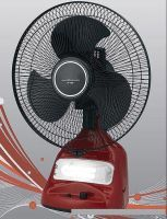 "Fans - Heavy Duty 2 In 1 12"" Rechargeable Fan With Emergency Light"