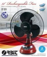 Fans ,Fans  - Orbit 12&Quot; Rechargeable Fan 2 Speed Oscillation Ac Dc Fan With Lights