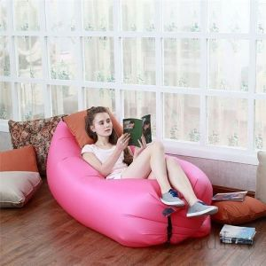 Inflatable Air Bed Sofa Couch For Camping Hangout Outdoor Beach Lounger Fast Filling - Arslbed