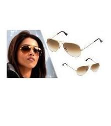 EDGE Plus Light Brown Sunglasses For Women In Double Shade