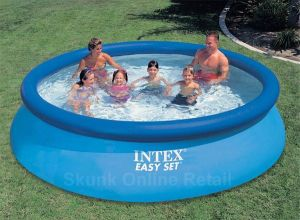 Inflatable Toys - 12 Feet Intex Easy Set Above Ground Family Inflatable Pool