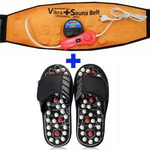 0ea52bf5ac88 Buy Combo Acupressure Massage Slippers 3 In 1 Vibra Heating Sauna Slim Belt  online