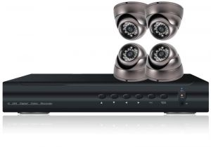 4 Dome(ir) Cctv Camera & 4 Channels Dvr Cctv Camera, Home Security System