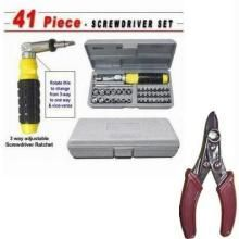 41 PCs Toolkit Screw Driver Set Wire Cutter