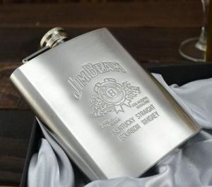 Bar Essentials - Big Size 8 Oz High Quality New Stainless Steel Hip Flask