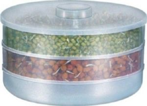 Moforce Sprout Maker - 1 L Plastic Food Storage(white)