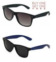 Buy 1 Black Wayfarer Sunglasses And Get 1 Blue Wayfarer Sunglasses Free