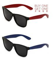 Buy 1 Red Wayfarer Sunglasses And Get 1 Blue Wayfarer Sunglasses Free