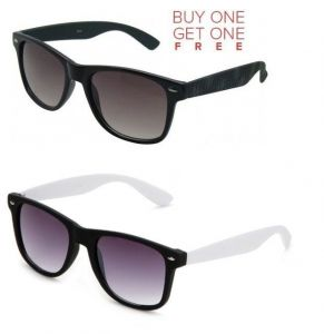 Buy 1 Black Wayfarer Sunglasses And Get 1 White Wayfarer Sunglasses Free
