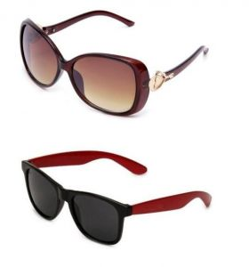 Buy 1 Designer Brown Womens Sunglasses And Get Red Wayfarers Free!!