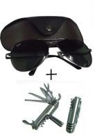 Premium Aviator Sunglasses With Army Knife