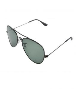 Lime Dashing Grey Aviator Look Sunglasses With Blackframe