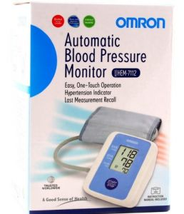Blood Pressure Monitors - Omron HEM 7112 Upper Arm Automatic Blood Pressure B P Monitor by INDMART