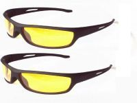 Indmart Set Of 2 Night Driving Glare Free Sunglasses