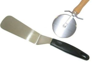 Pizza Cutter And Cake Cutter Combo