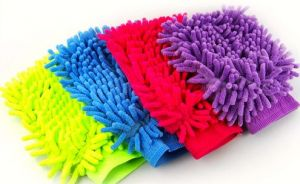 Microfiber Premium Wash Mitt Gloves Set Of 4 PCs For Kitchen