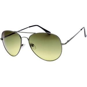 Indmart Gunmetal Green Aviator Sunglasses For Men And Women