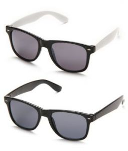 Black & Black White Wayfarer Sunglasses