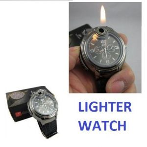 Men's Watches   Leather Belt   Digital - Limited Edition Lighter Watch