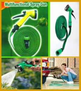 5 Meter Flat Hose Water Gun Spray For Garden Pet Car Washing Jet Spray Gun