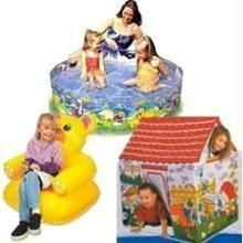 Dolls, Doll Houses - Tent House Teddy Chair  & Outdoor water Pool