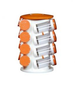 Spice Jars Multipurpose Spice Srack 16 In One Revolving