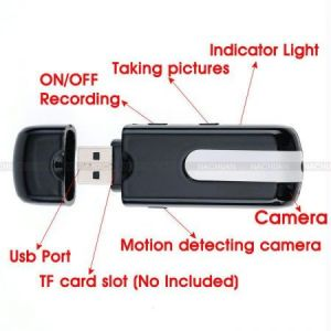 Spy USB Pen Drive Hidden Video Camera + 4 GB Card