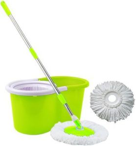 Super Mop Rotating 360 Degrees Floor Tiles Washer Cleaner