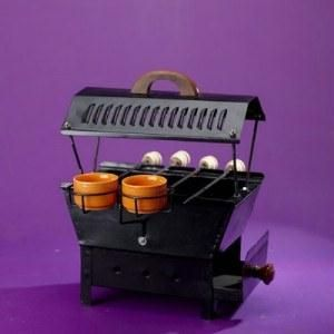 Traditional Table Top Charcoal Barbeque Griller Set