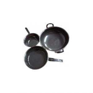 Basic Cooking Combo Non Stick Frypan With Kadhai / Tadka Pan