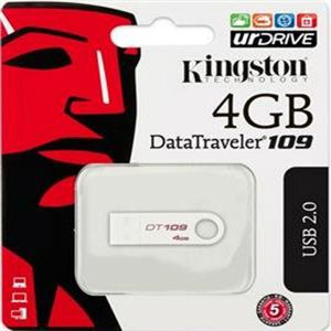 Drives, Writers & Storage - Kingston 4GB USB Flash Drive DT 109 With 5 Yrs Warranty