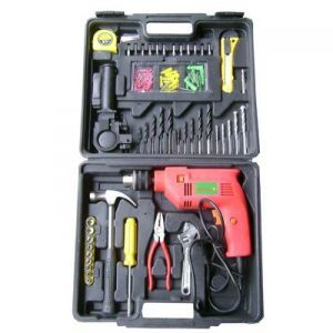 Power Tools - 100 PC Toolkit With Powerful Drill Machine Set