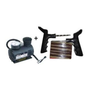 Car Air Compressor & Tyre Repair Kit Utility Combo 2 In1