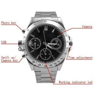 Indmart Latest 4GB Wrist Watch Spy Hidden Camera