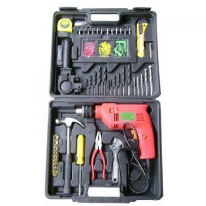 Tool Sets - INDMART 100  pcs Toolkit Box with Powerful Drill and Hammer