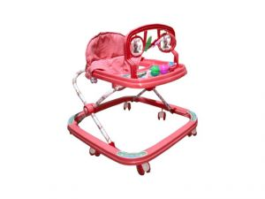 Indmart Stylish Red Colour Baby Adjustable Rattle Walker For Your Kids