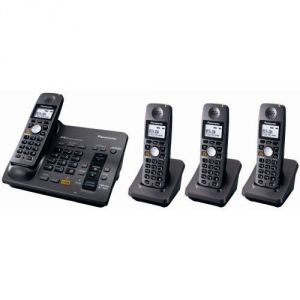 Cordless Phones - Panasonic KX-TG6074B 5.8 GHz Digital Cordless Answering System with 4 Handsets