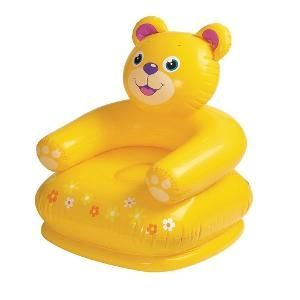 Intex Happy Animal Air Chair Yellow Teddy