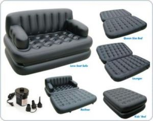 Double beds - New 5 In 1 Inflatable Bestway Sofa Air Bed Couch With Free Electric Pump