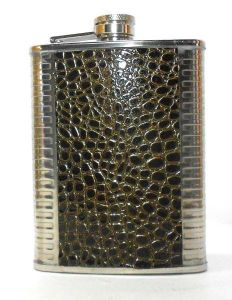 Snake Design Stainless Steel Hip Flask - 8 Oz