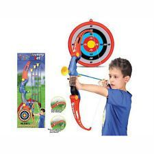 Toy Archery Set, Bow & Arrow, Kids Outdoor & Indoor Sport With Target, New