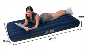 Outdoor Furniture - INDMART Intex Air Bed Single Latest Model