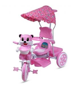 Indmart Deluxe Tricycle With Music And Hood Kitty Shape